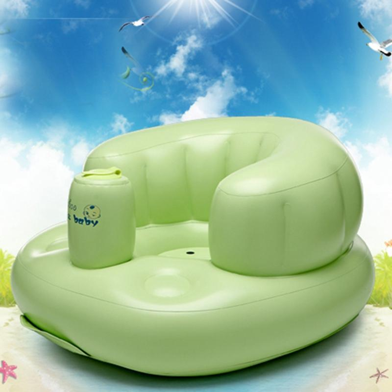 Portable Baby Inflatable Bath Chair Seat Folding Pvc Inflatable ...