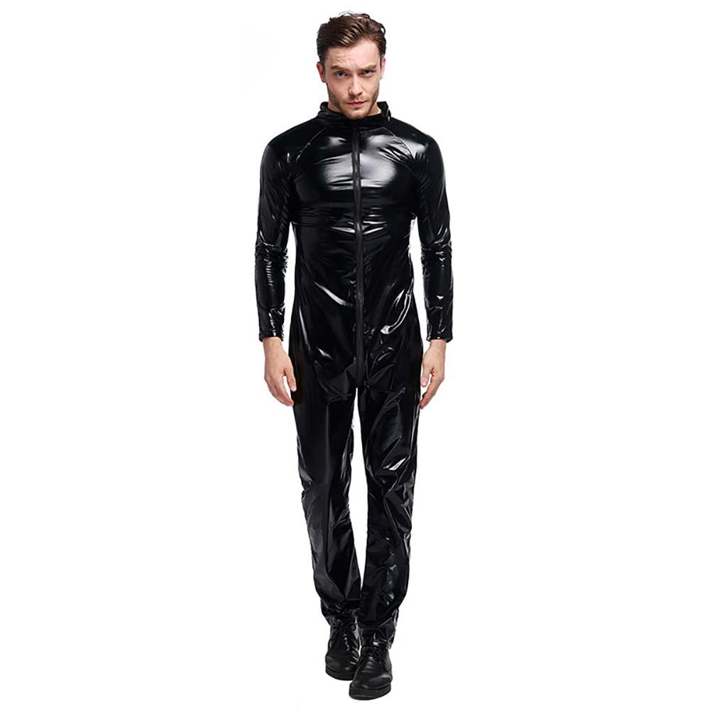 cool ghost rider costume adult men motorcycle rider jumpsuit black