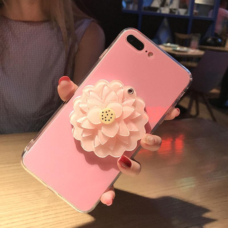 Fashion Phone Case with Lotus Flower for IPhone X 6/6S 6plus/6S Plus 7/8 7plus/8plus 2018 New Arrival Hot Sale Iphone Case 6 Styles