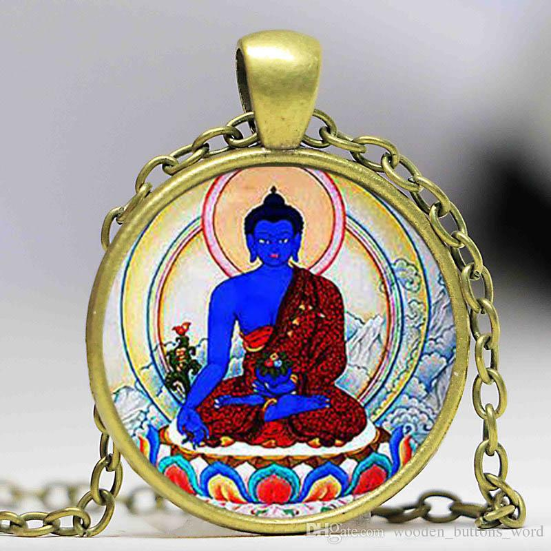 Wholesale buddha pendant and necklace buddha jewelry buddhist wholesale buddha pendant and necklace buddha jewelry buddhist pendantiver platedchristmas gift gold chains for men name pendant necklace from aloadofball Image collections