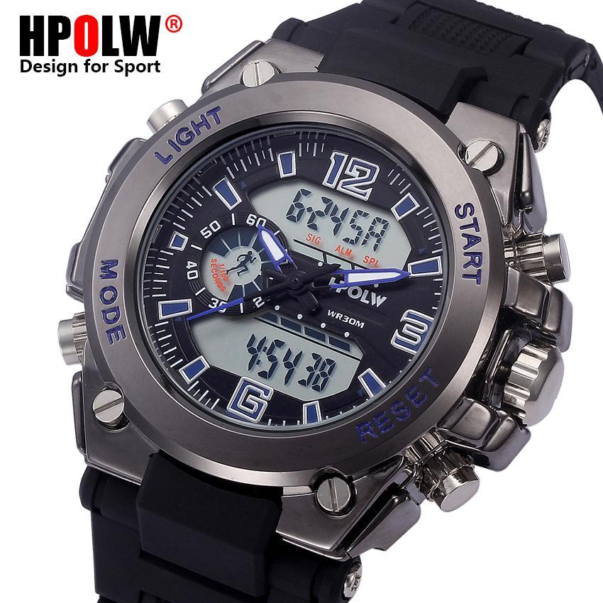 2c2bf9ba466 Compre Mens Data Dia Display LED Relógios De Luxo Do Esporte Dos Homens  Digitais De Quartzo Relógio De Pulso Relogio Masculino Novo Relógio Da  Marca HPOLW ...