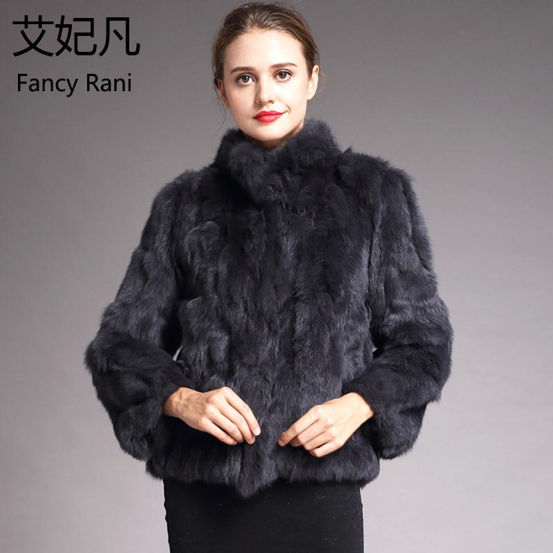 25f630609c19c Women Genuine Coats Solid Female Stand Collar Rex Rabbit Coat Winter Fashion  Real Fur Overcoat Jackets C18110301 Designer Jackets Summer Jacket From ...
