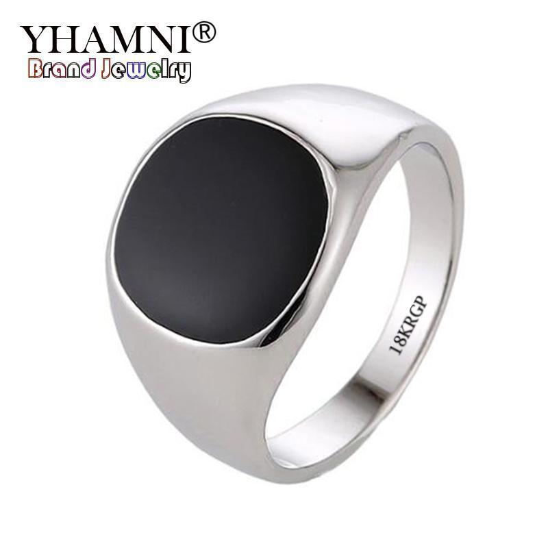 2018 Yhamni Vintage Ring Men Fashion Jewelry Engrave 18krgp Gold