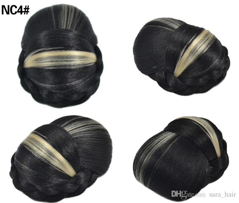 Sara Easy Clip to Hair Bun Chignon for Lady Clip in Hair Extension Updo Chignon Hairpiece 12*11*6CM