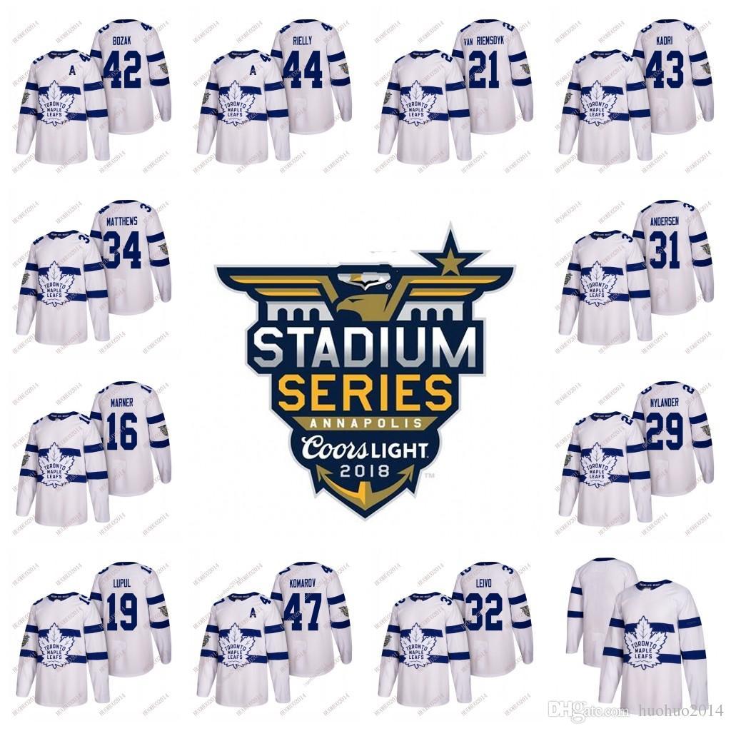 9bce0a648 2018 Stadium Series Toronto Maple Leafs Hockey Jerseys Men Women Youth Auston  Matthews Marner Marleau Nylander Brown Rielly McElhinney UK 2019 From ...