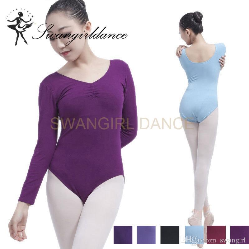 ff398ee3f 2019 Adult Back Pinch Front Long Sleeve Ballet Leotards For Sale ...