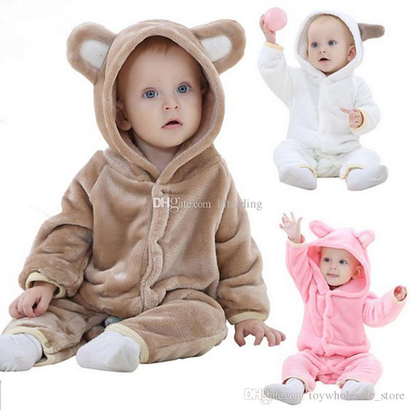 Compre Nueva INS Bebé Mamelucos De Animales Franela Niños Osos Monos  Pijamas De Dibujos Animados Infantil Ropa De Escalada C2992 A  9.18 Del ... d54d9e36004