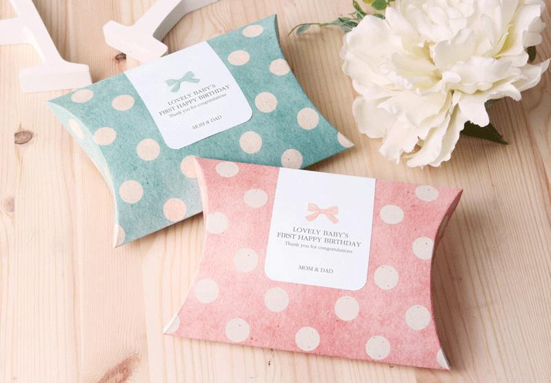 Pinkgreen Pillow Candy Dots Paper Bag Gift Box Supply Wedding Party