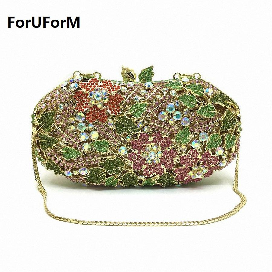 ForUForM Women Evening Party Wedding Bag Bright High End Diamond Female Day  Clutches Ladies Small Chains Hasp Handbags LI 1574 Gold Clutch Branded Bags  From ... 34640826a86ed