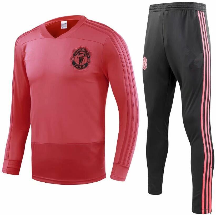 46b0b90d2 New 2018 Manchester United Tracksuit POGBA Football Jacket Utd ...