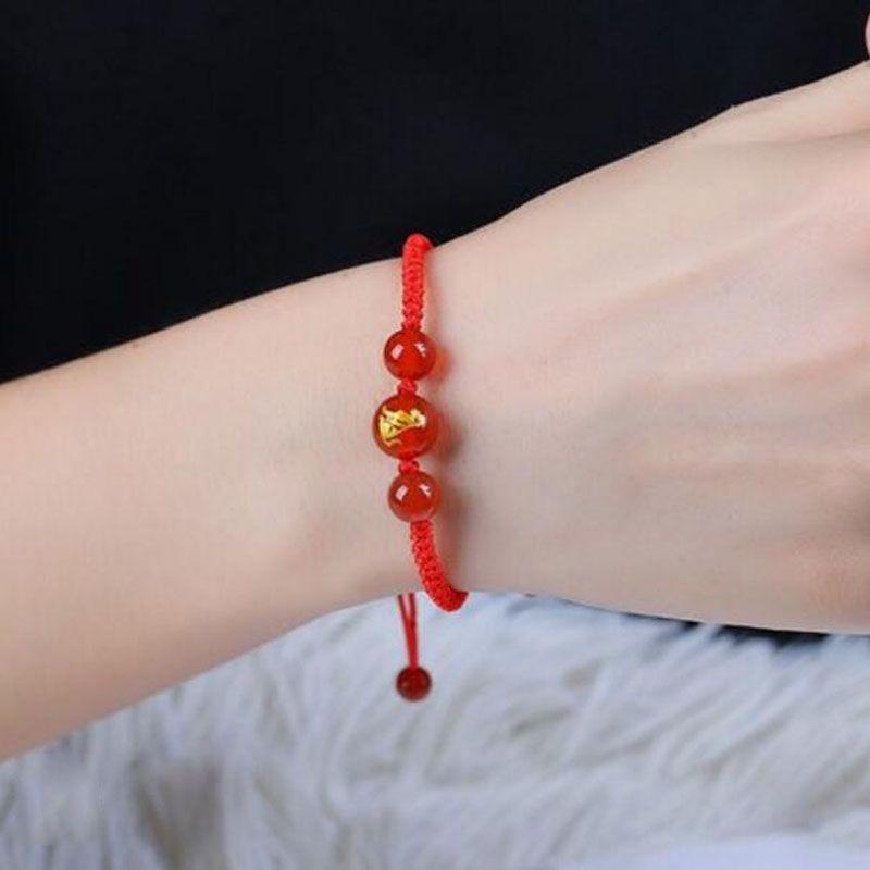 3e87b7c41227 Compre Versión Japonesa Y Coreana De The Red Crystal Hand Woven Red Rope  Hombres Y Mujeres Pareja Modelos Pulsera Regalo De Cumpleaños De Vacaciones  A  6.1 ...