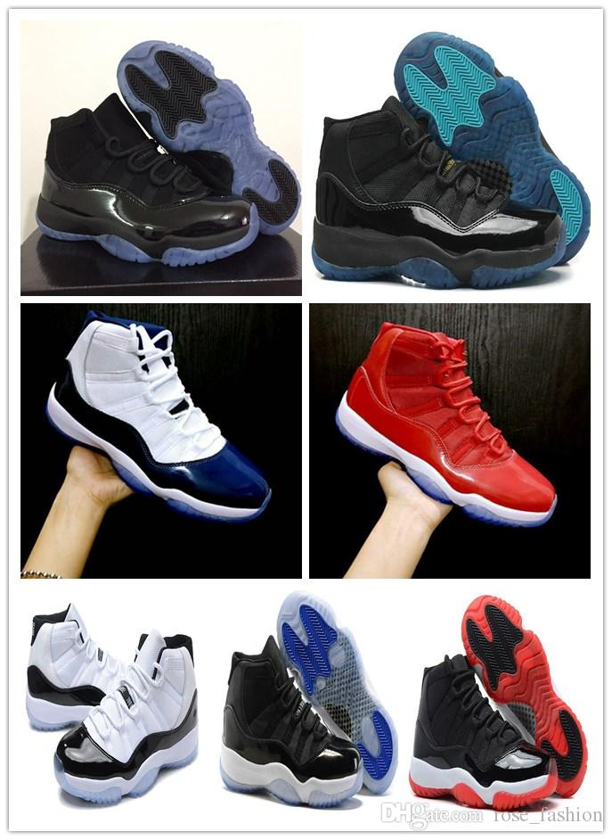 11 Cap and Gown Prom Night Black out Gym Red Bred Concord Space Jam Win like 96 11s Men Basketball Shoes Xi Womens Athletic Sports Sneakers