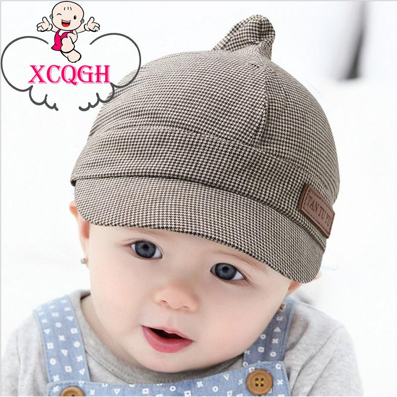 488918e6544 2019 XCQGH Baby Boy Hat Plaid Design England Style Children Fashion Cap  Summer Berets Baby Hat Boy Caps For Child Girl Berets Kid Ha From Cassial