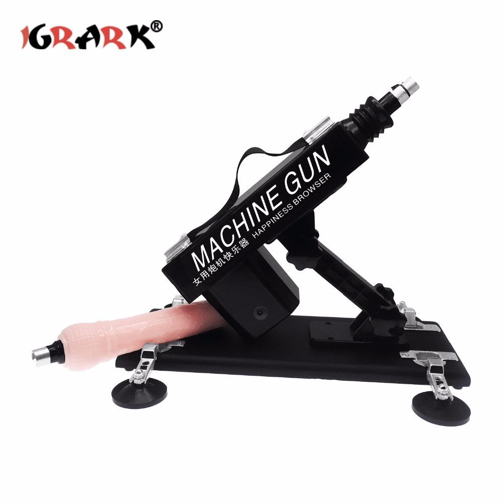 IGRARK Newest Sex Machine Gun Stronger Power Automatic Love Machines Vibrator for Women and Men Sex Products sex toys for women S18101905