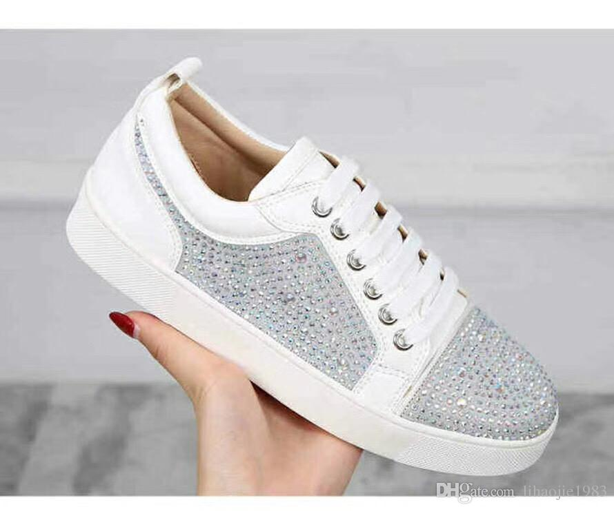 9f79e69a453e 2019 Designer Sneakers Red Bottom Shoe Low Cut Suede Spike Luxury ...