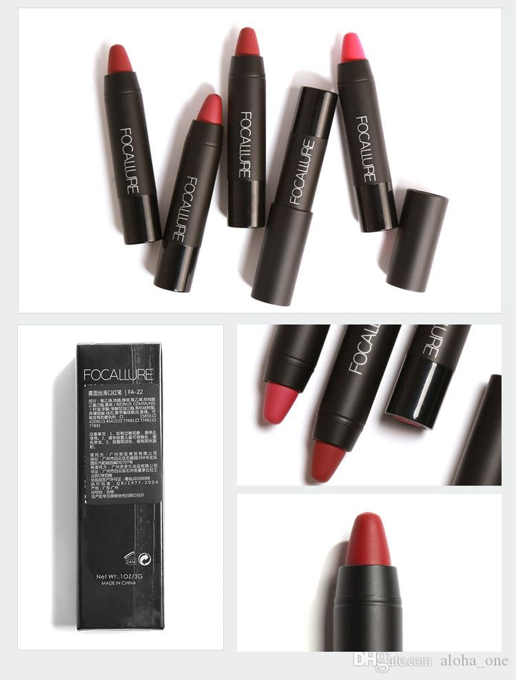 FOCALLURE Brand Matte Lipstick Lips Makeup Cosmetics Waterproof Pintalabios Batom Mate Lip Gloss Rouge a Levre Labial FA22