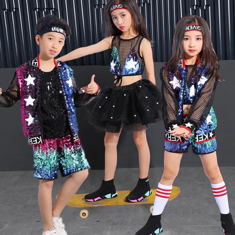 Compre Disfraces De Hip Hop Calle De La Danza De Los Niños De La Nueva  Escuela Primaria De Jardín De Infantes Moderna Danza Jazz Rendimiento De La  Ropa A ... 7b49c22ddb6