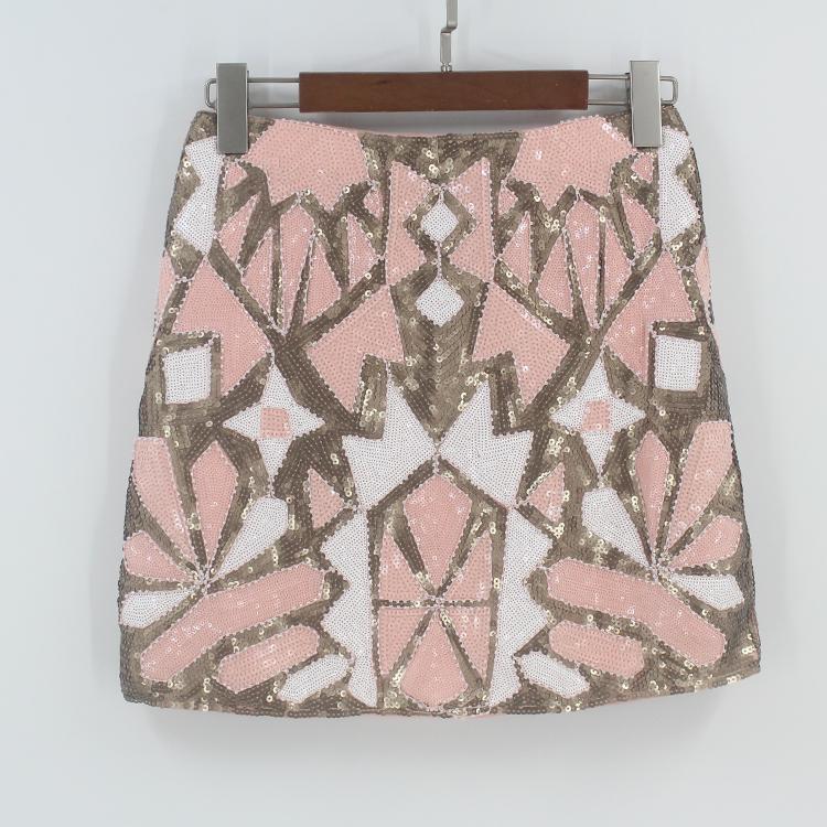 1fa49629f67f 2019 Retro 1920s Gatsby Flapper Party Skirt Geometric Colorblock Beaded Sequin  Skirt Women Pencil Jupe Falda Baroque From Matilian, $30.8 | DHgate.Com