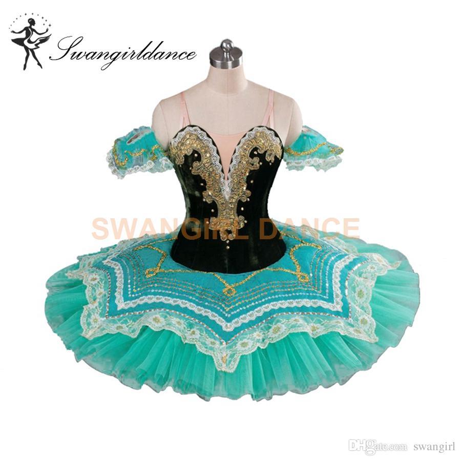 7dbd3d4119 2019 Raymonda Classical Ballet Tutus Aqua Princess Florina Professional  Pancake Tutu Girls Adult Professional Ballet Tutus Green BT9090 From  Swangirl