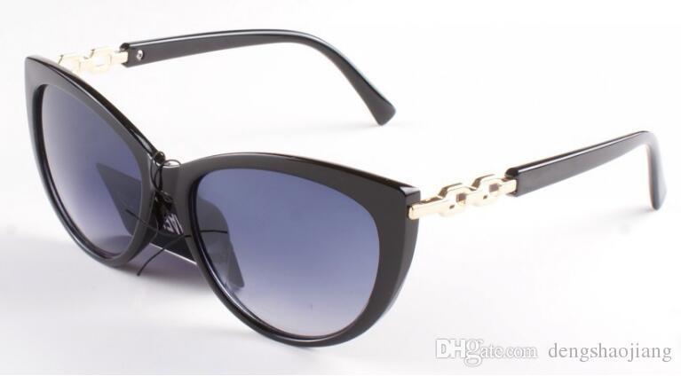 Libre de pruebas buque lujo de la manera gafas de sol retro hombres del diseñador del logo de la marca del laser marco de oro brillante mujer más alta calidad con 6449
