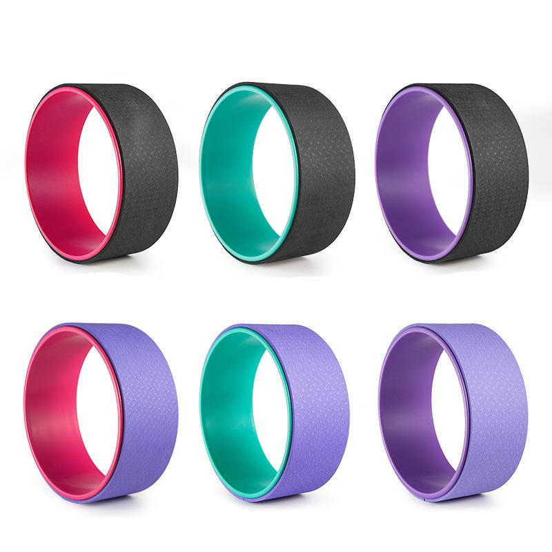 Yoga Circles 4 Colors Professional Slimming Yoga Circles Yoga Wheel Gym Workout Training Tool Waist Shape Body Building Fitness Equipment