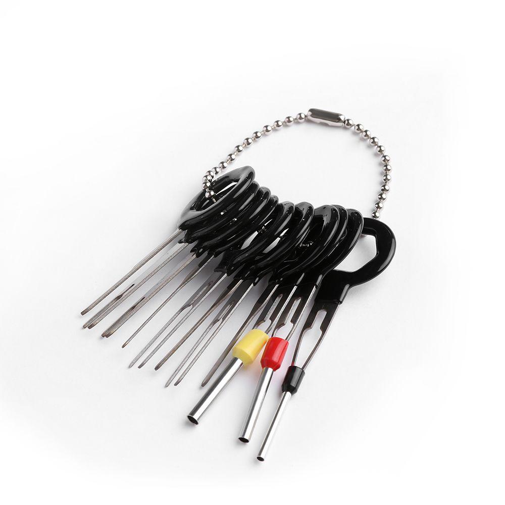 11 * Herramienta de extracción de terminal Coche Cableado eléctrico Kit de conector de engarce Pin Extractor