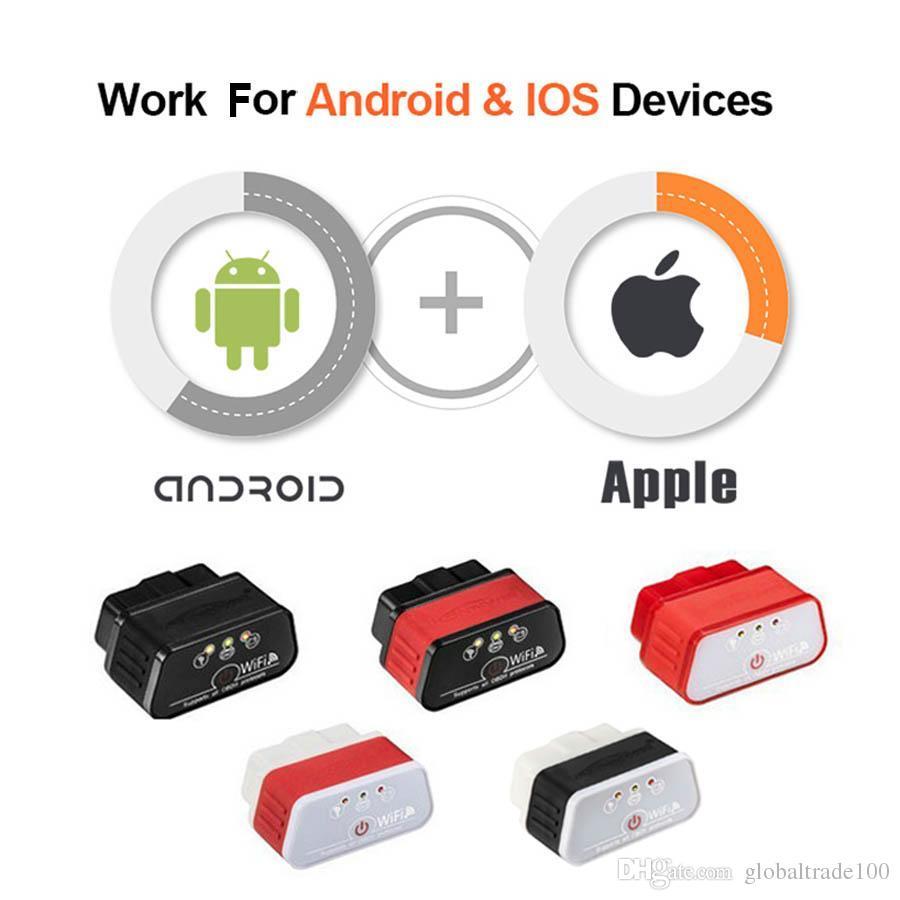 EML327 OBD2 Wifi V 1.5 Scanner De Diagnóstico Auto ODB 2 Konnwei Autoscanner KW903 ELM 327 Adaptador Wi-fi OBD2 Para iPhone Android