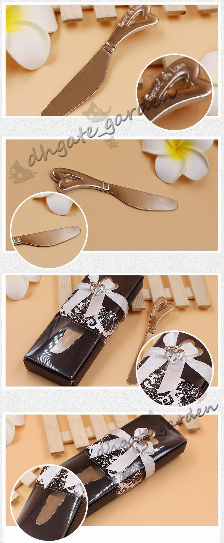 사랑의 심장 모양의 심장 모양의 손잡이 스프레더 스프레더 버터 나이프 나이프 결혼식 선물 호의 확산