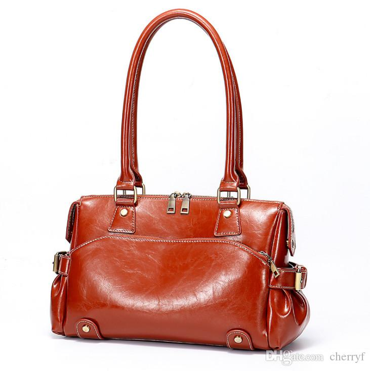 eba8b98b7c22 New Style Lady Tote Bags Fashion Real Leather Shoulder Bags European ...
