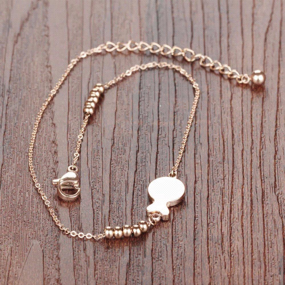 Anklet Foot Jewelry Rose Gold Plated Anklet Bracelet Leg Chain