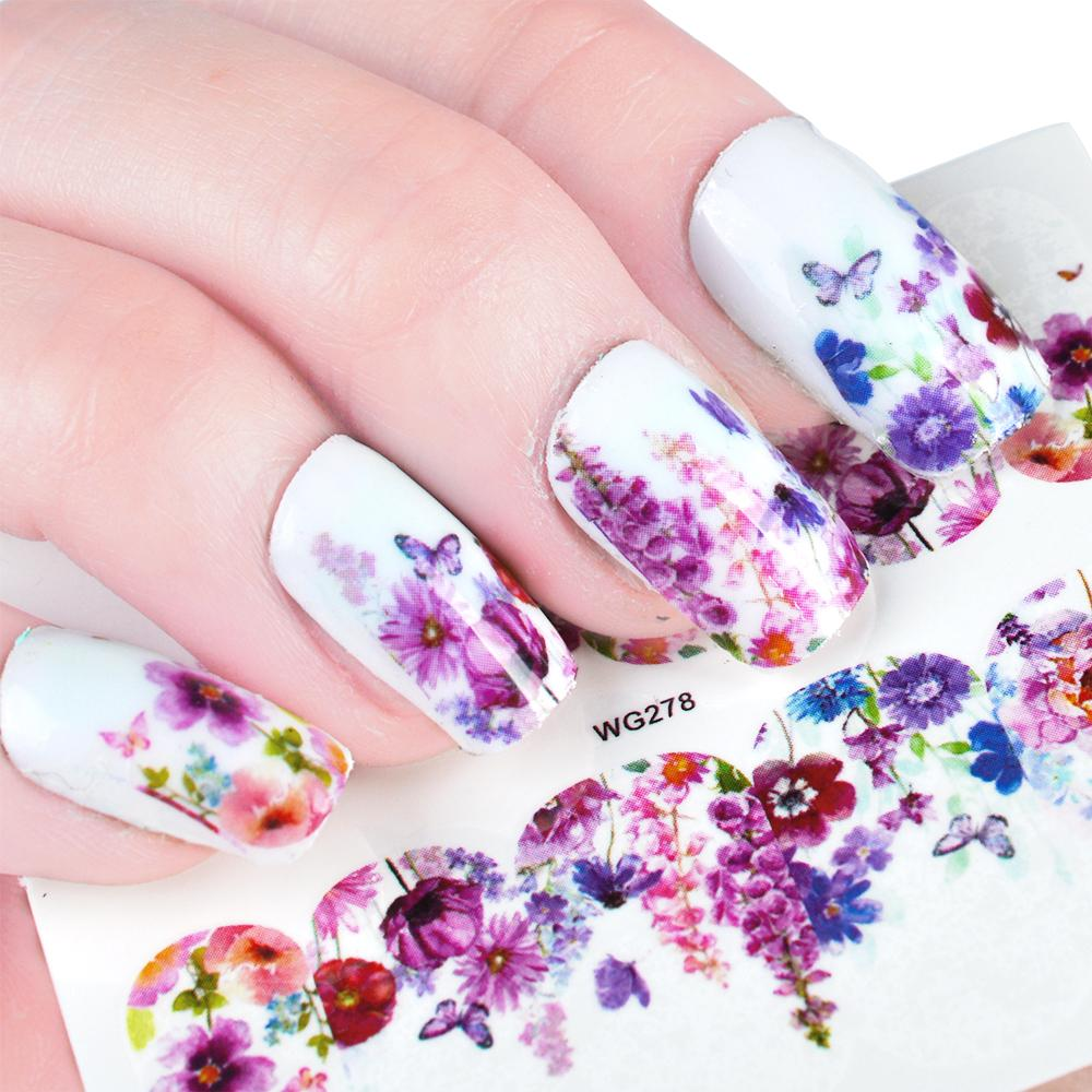 Beauty 1 Sheets New Charms Sticker Nail Art Sticker Decals Flower