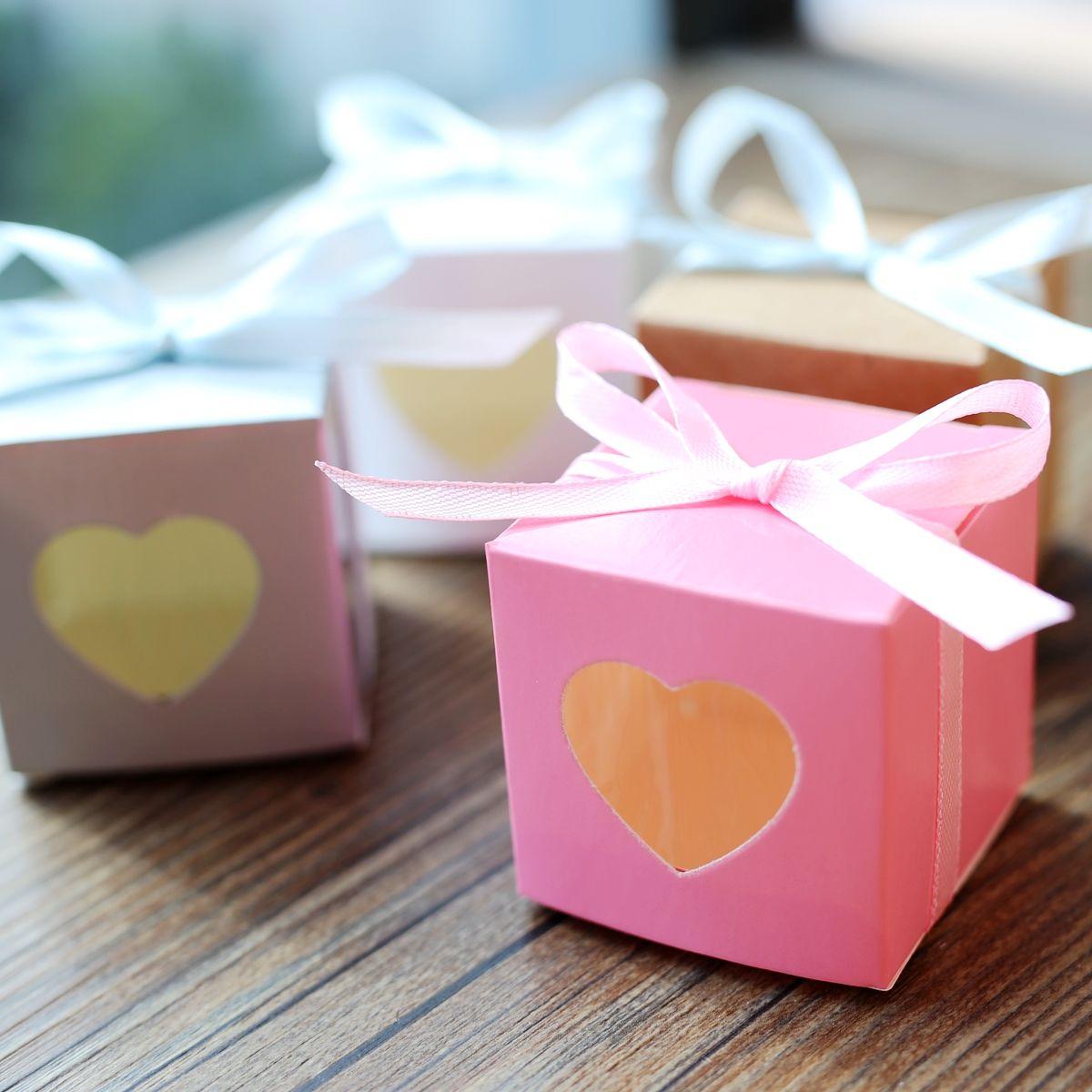 Heart Window Wedding Candy Box, Paper Box,Candy Box,Wedding Favor ...