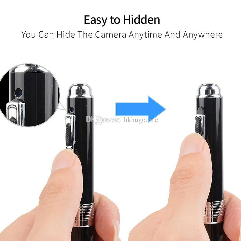 Cámara de vigilancia con cámara de mini pluma portátil de 1080P para vigilancia con grabación de bucle / detección de movimiento / Plug and Play mini cámaras DVR