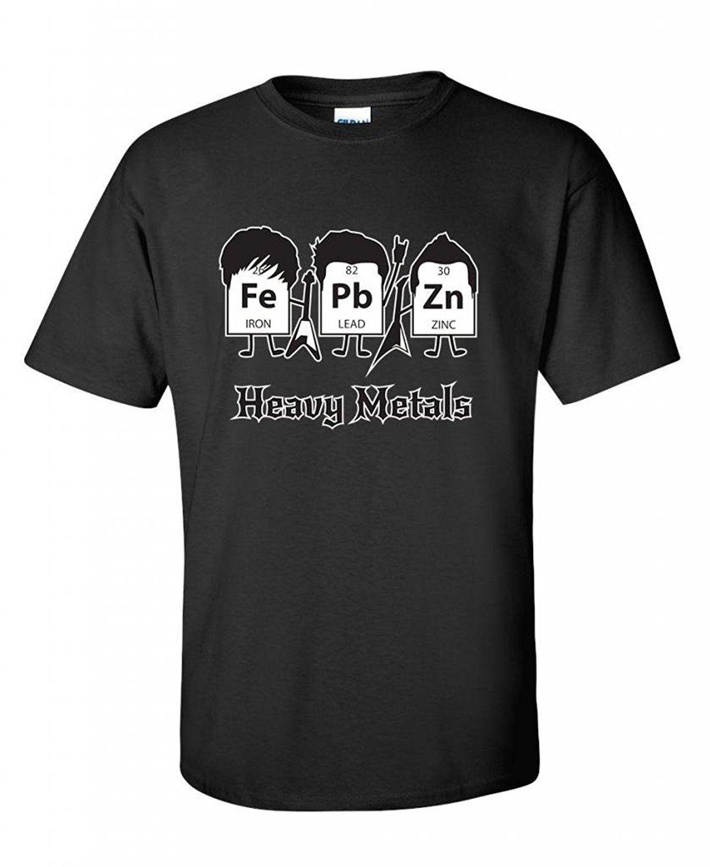 compre metales pesados tabla peridica ciencia graphic band music cool very funny t shirt nueva moda para hombres short sleeve top tee t shirt a 1308