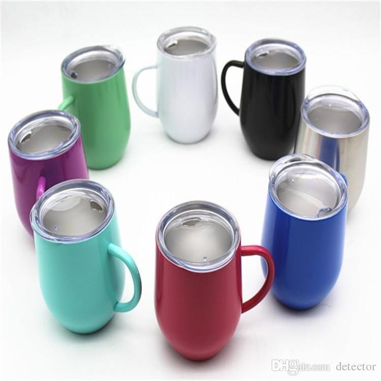 9 унций кружки чашки с ручкой 304 термос из нержавеющей стали 8 цветов держать теплые / холодные бокалы для путешествий