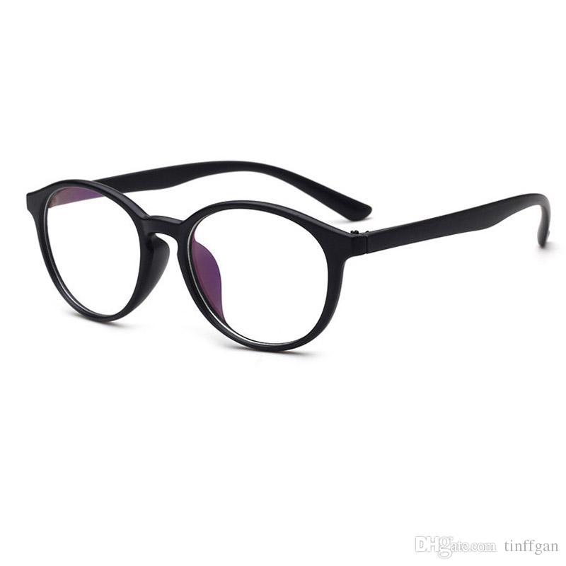 09cf82d4a5f5 2018 Coating Lens Oval Full Frame Eyeglass Frame Student PC Optical Plain  Mirror Eyeglasses Frames Men Women Multicolor Eye Glasses Frame Petite  Eyeglass ...