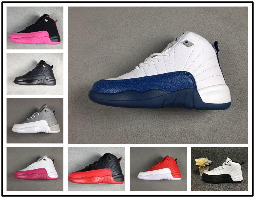 sale retailer 7927c 78cc0 Compre Nike Air Jordan Aj12 2018 Marca 12 Niños Zapatos Niños J12s Zapatos  De Baloncesto Zapatos Deportivos De Alta Calidad Jóvenes Niños Niñas  Zapatillas ...
