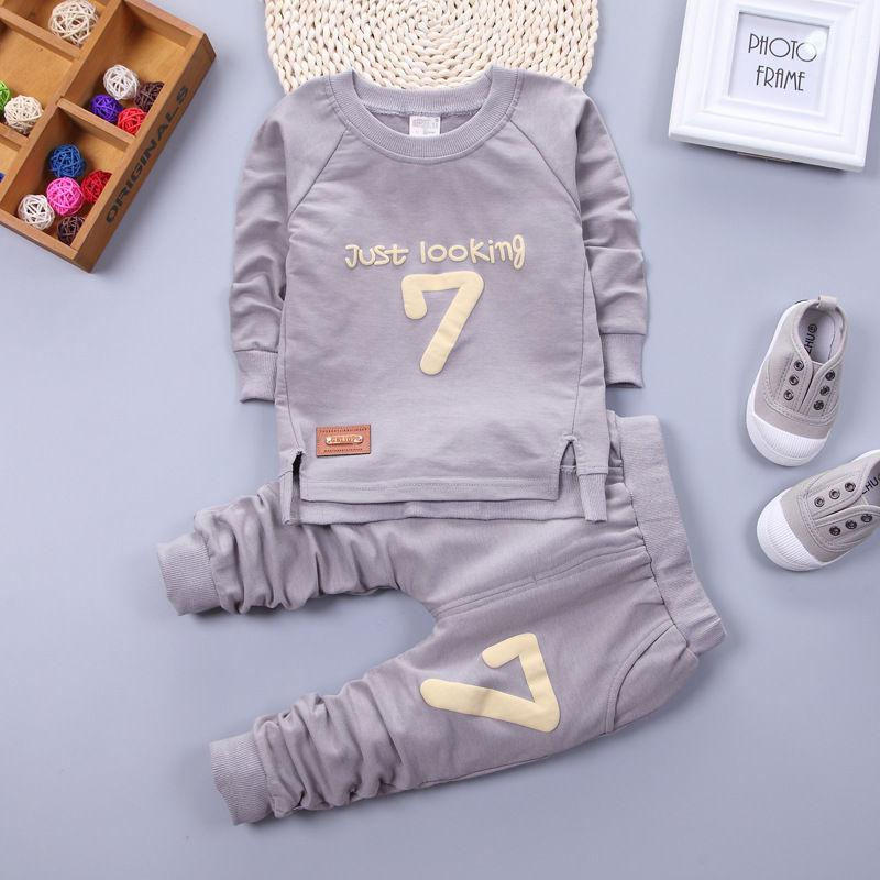 Çocuklar kazak seti erkek Kız çocuk Karakter güz 2 adet set çocuklar hoodies spor takım elbise giyim toddler rahat çocuk eşofman set