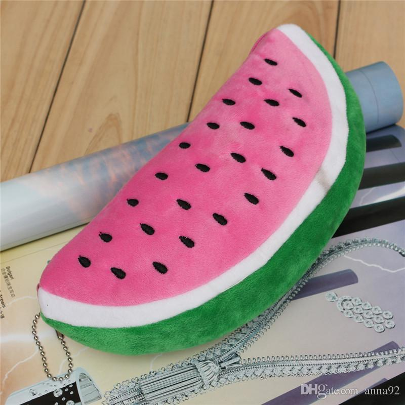 Red Practical Case Volume Watermelon Kids Pen Pencil Case Gift Cosmetics Purse Wallet Holder Pouch For Student Officer 2018
