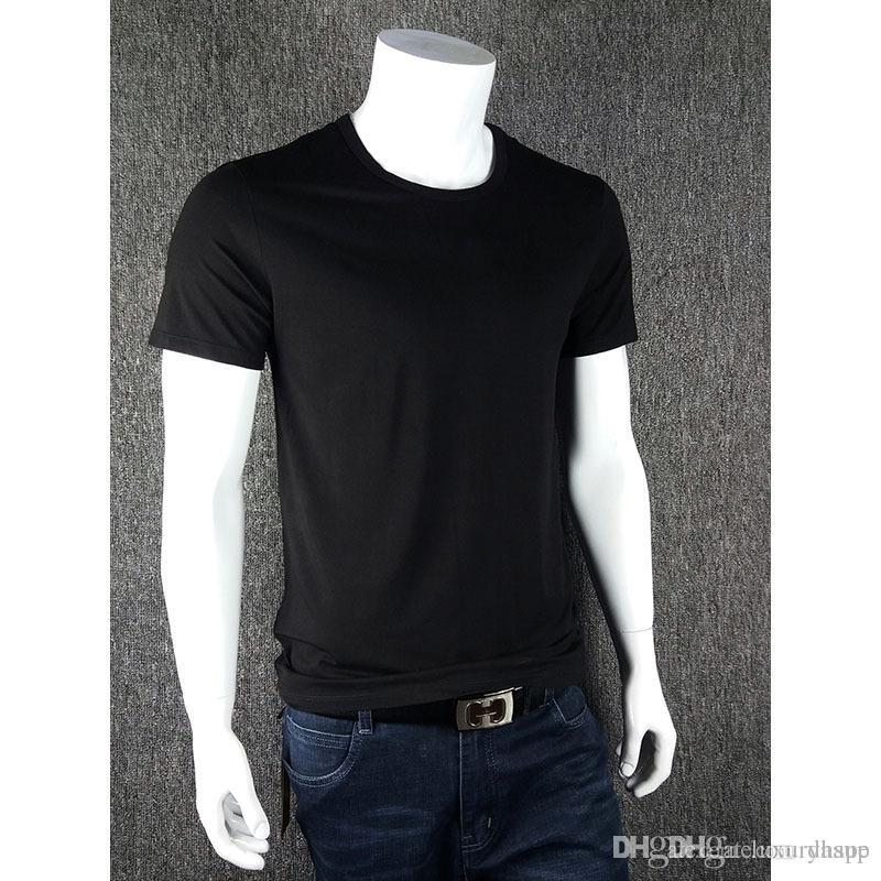 59fb4a30f Casual Of Men'S T Shirt Short Sleeved Bamboo Shirt Fiber V Neck Solid Color  Shirt Bottoming Shirt Plus Fertilizer Large Size Men'S Fashion T Shirts  Print ...