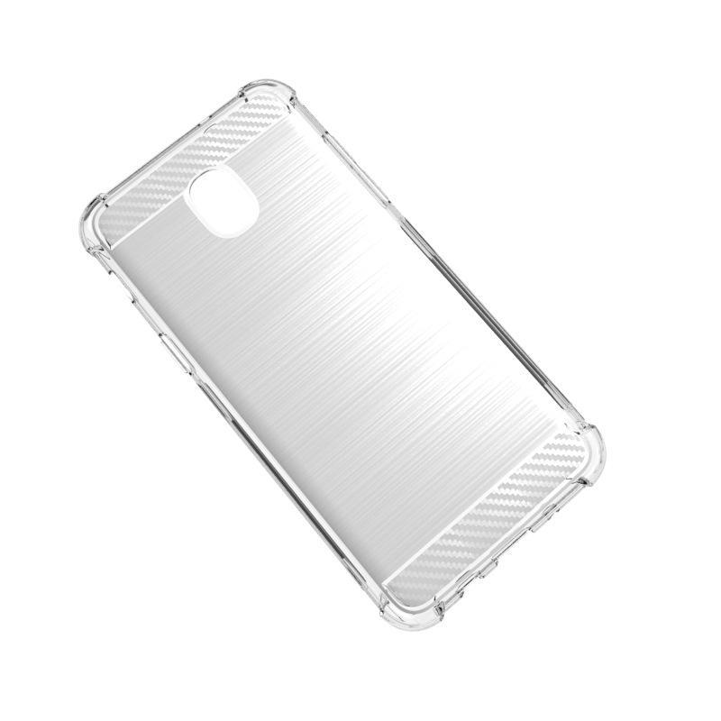 Samsung A6 2018 1.3mm Etui En Fibre De Carbone Brossé Couverture Souple TPU Antichoc Pour Samsung Glaxy A6 2018 / A6 Plus 2018