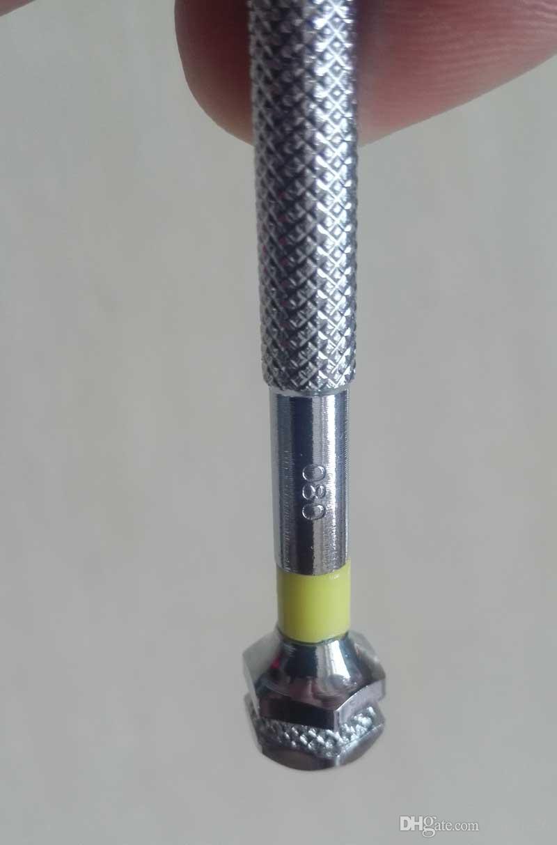 Haute qualité montres réparation tournevis 7 tailles 0.8mm-2.0mm montre tournevis kit horloge outils de réparation mis pour montres