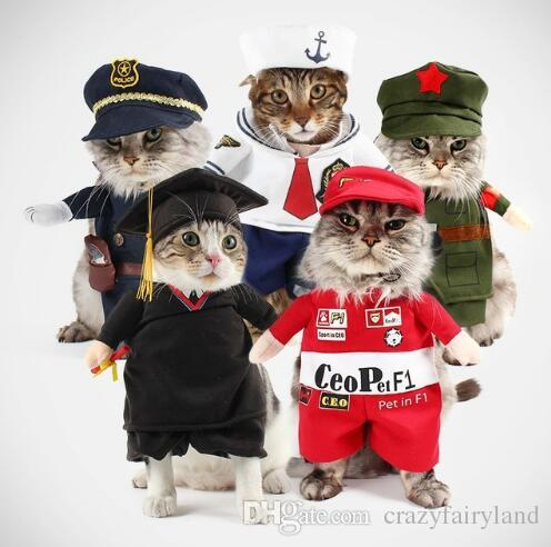 Grosshandel Lustige Hund Katze Halloween Weihnachten Cosplay Kostume