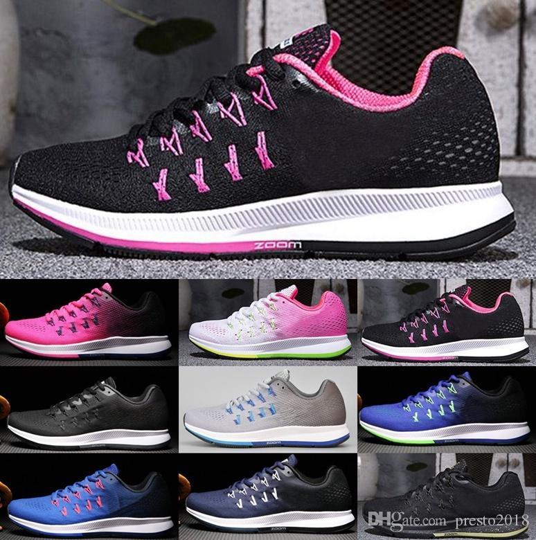 uk availability e0120 70a24 Compre Wmns 2018 Nuevo Zoom Pegasus 33 Zapatos Original Pegasus 33 Mujeres  Zoom Men Sports Sneakers A  44.78 Del Presto2018   DHgate.Com