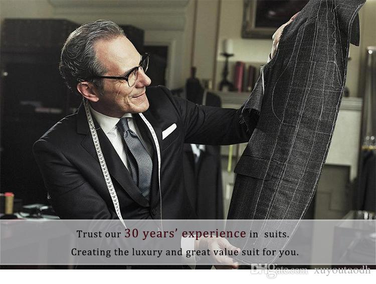 Hot Sale Burgundy Men Suits Business Suits Custom Made Wedding Suits Slim Fit Grooms Tailored Tuxedo Terno Masculino Jacket+Pants