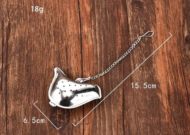 Teapot / peanut / Bird / Shell Full Shape Stainless Steel Infuser Filter Strainer Tea Ball Spoon