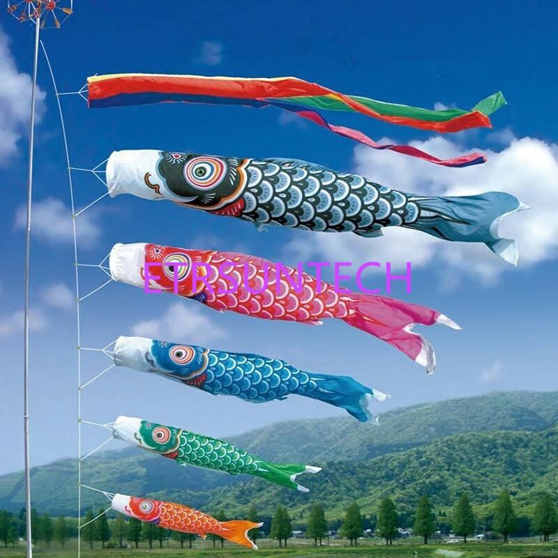 Holzspielzeug 70cm Koi-Karpfen Nobori Wind Socke Streamer Kite Flagge hängende