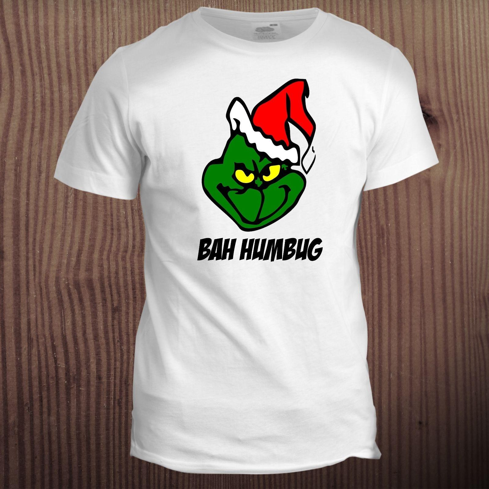 Grinch Christmas Xmas Father Dad Gift Santa Stocking Filler T Shirt ...