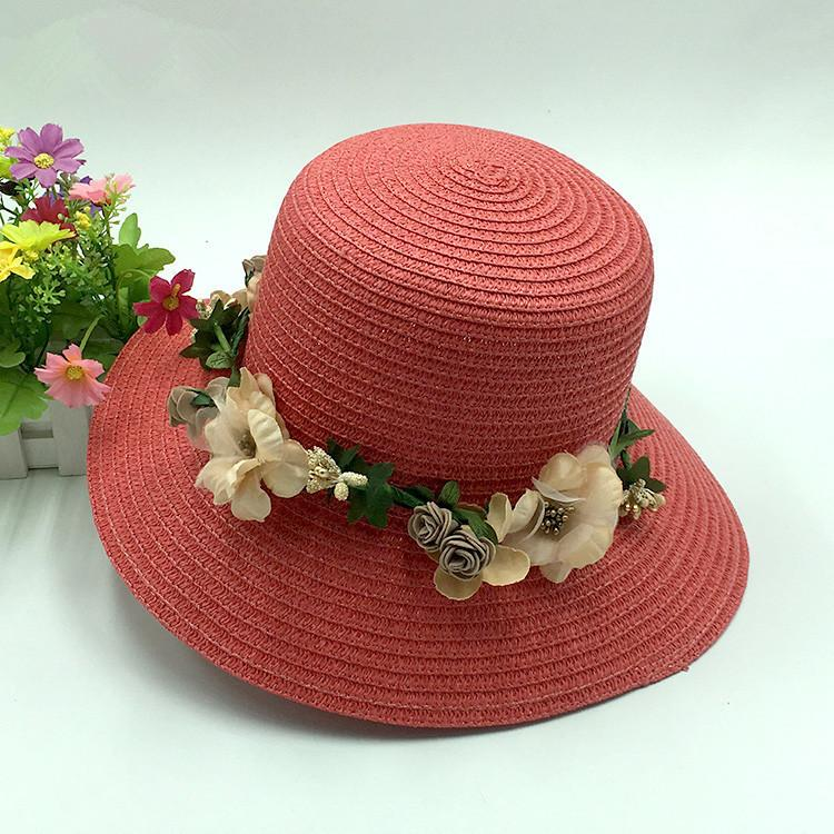 Country Style! Women s Sun Cap Foldable Flowers Ladies Beach Sun Caps  Floppy Straw Hat Lady Summer Hats Bowler Hat Panama Hat From Value222 21077609b88