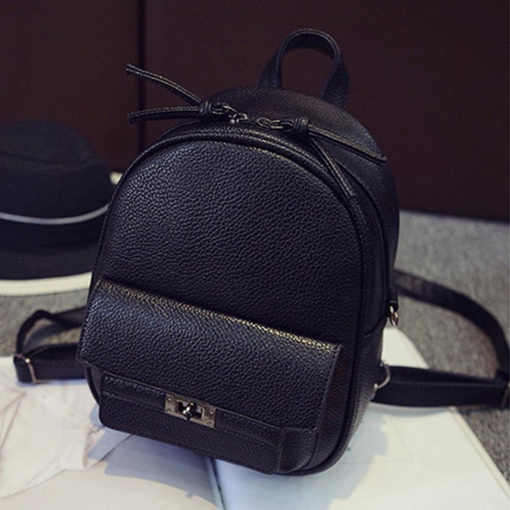f0cf8b849154 2019 Fashion Fashionable Solid Color Backpack PU Leather Mini Backpacks  College Wind Women School Bags For Teenage Girls Bags Swiss Gear Backpack  Osprey ...